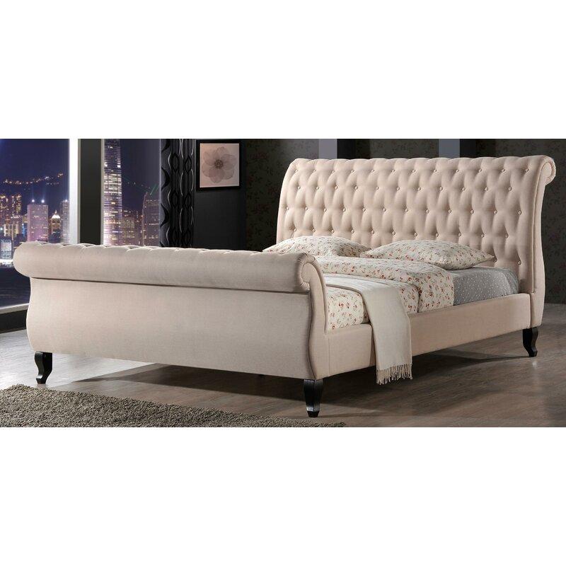 Edwyn Upholstered Sleigh Bed