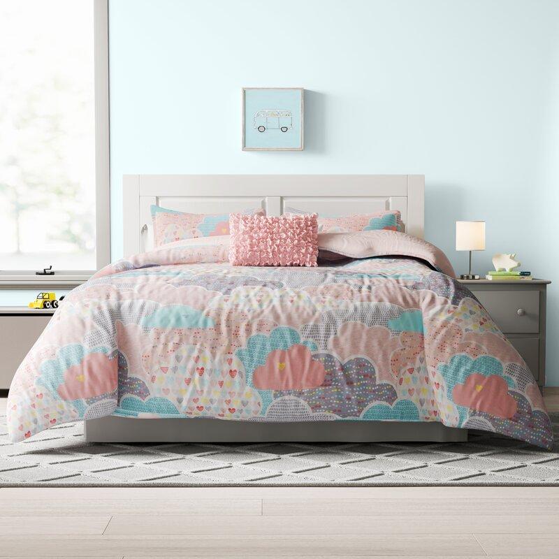Mack Milo Kirts Printed Reversible Comforter Set Reviews Wayfair