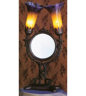 Meyda Tiffany Pond Lily Cherub Mirror 17