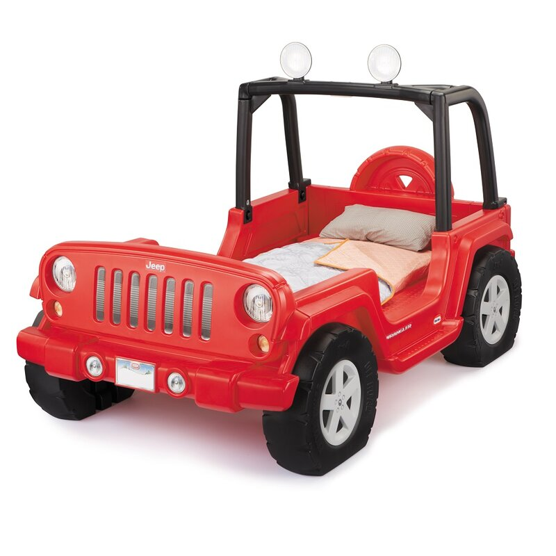 Little Tikes Jeep Wrangler Twin Car Bed Wayfair Ca