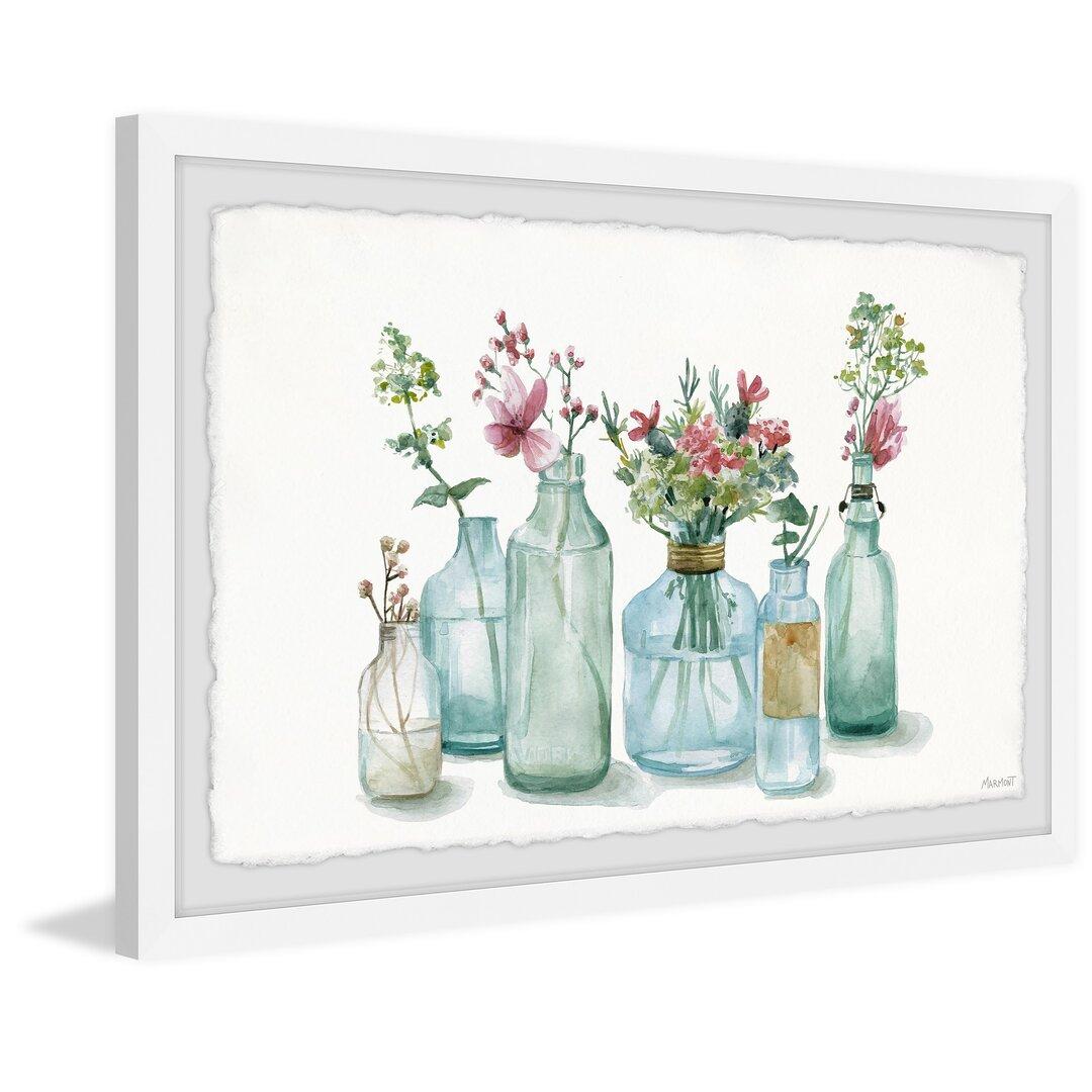 Glass Bottle Planters Framed Painting Print