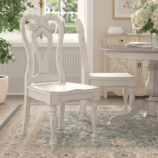 Tiphaine Solid Wood Dining Chair (Set of 2)