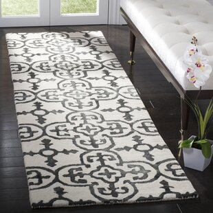 Naples Park Hand-Tufted Wool Ivory Area Rug ByBungalow Rose