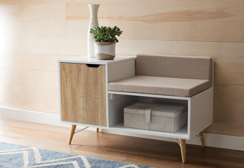 Stella Upholstered Storage Bench Reviews Allmodern
