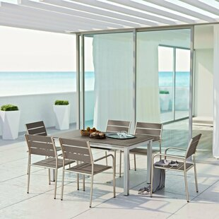 Orren Ellis Coline 7 Piece Outdoor Dining Set