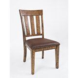Concetta Upholstered Slat Back Side Chair in Brown (Set of 2) by Loon Peak®