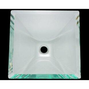 Affordable Glass Square Vessel Bathroom Sink ByPolaris Sinks