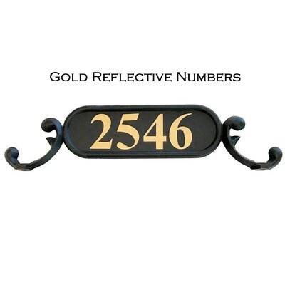 Charleston 1-Line Mailbox Sign Addresses of Distinction Customize: Yes, Font: Gold Reflective