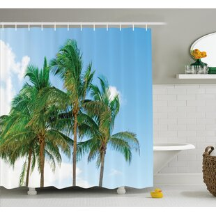 Tropical Exotic Idyllic Nature Single Shower Curtain