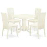 Bublava 5 Piece Solid Wood Dining Set by Winston Porter