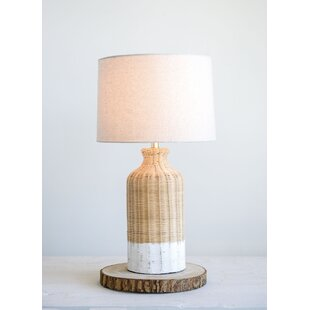 Rattan wicker table lamp wayfair choy wicker 27 table lamp aloadofball