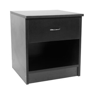 Comparison Phelan Arc-Shaped Handle 1 Drawer Nightstand by Andover Mills
