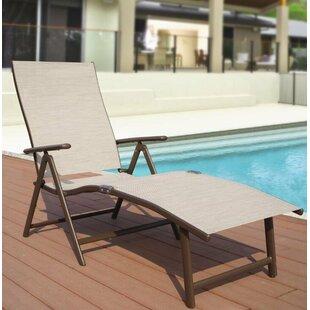 Winston Porter Otterbein Aluminum Reclining Chaise Lounge (Set of 2)