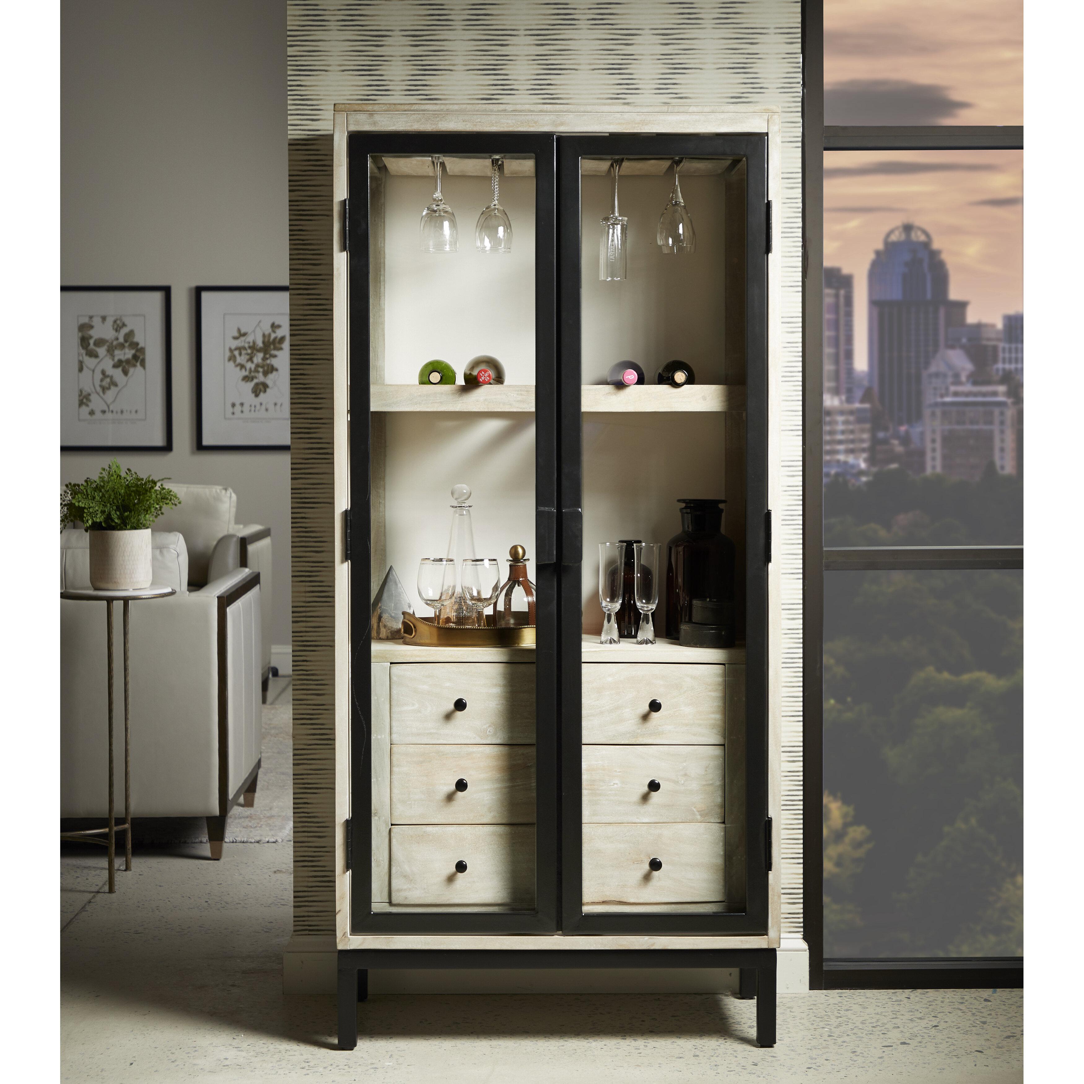 Taja 3 Drawer Modern Bar Cabinet Reviews