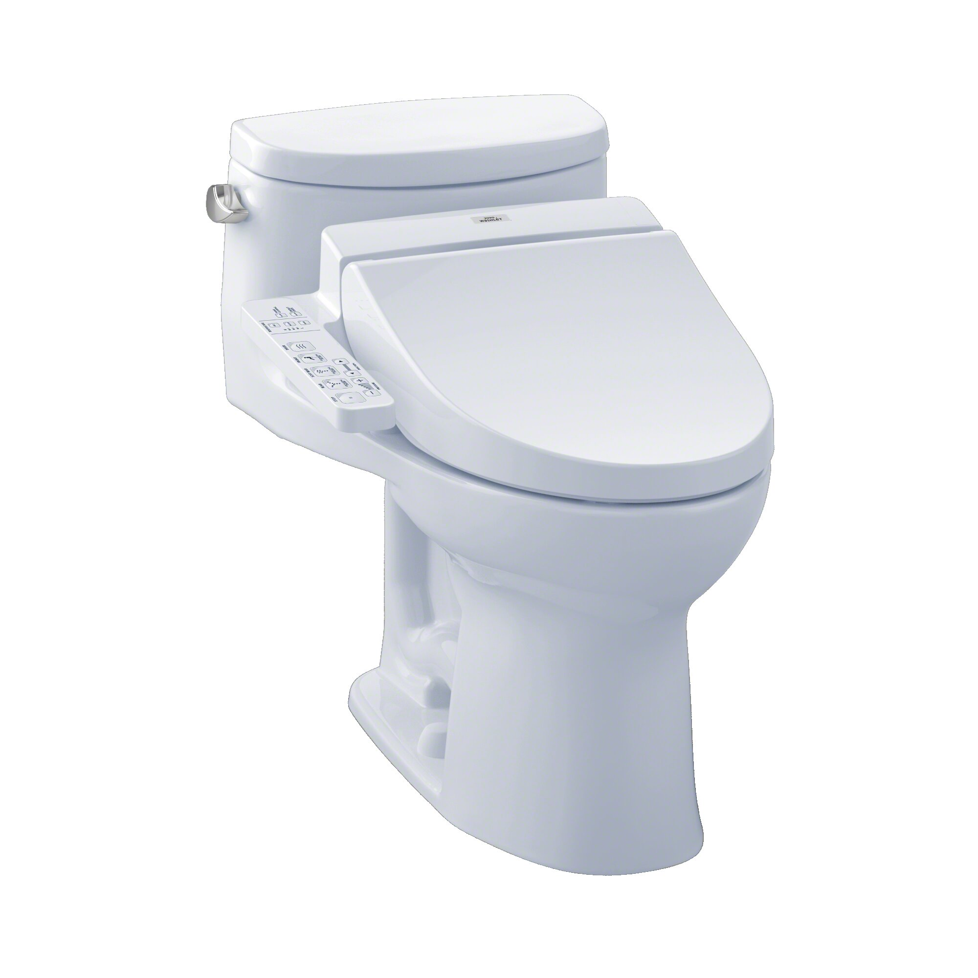 Toto Supreme 1 28 Gpf Elongated Bidet Toilet With C100 Electronic Bidet Seat Reviews Wayfair