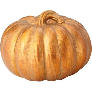 Faux Copper Pumpkin Sculpture
