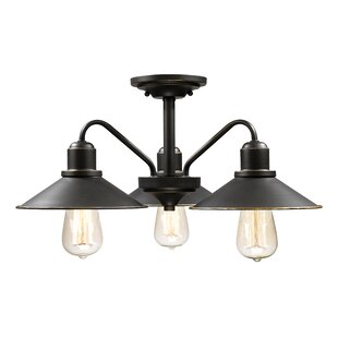 Breakwater Bay Cromartie 3-Light Semi Flush Mount
