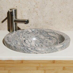 Allstone Group Meridian Stone Circular Drop-In Bathroom Sink