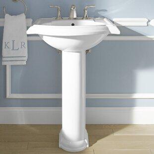 Price comparison Devonshire® Ceramic 24 Pedestal Bathroom Sink with Overflow By Kohler