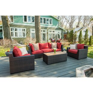 Darden 6 Piece Sofa Seating Group with Cushions
