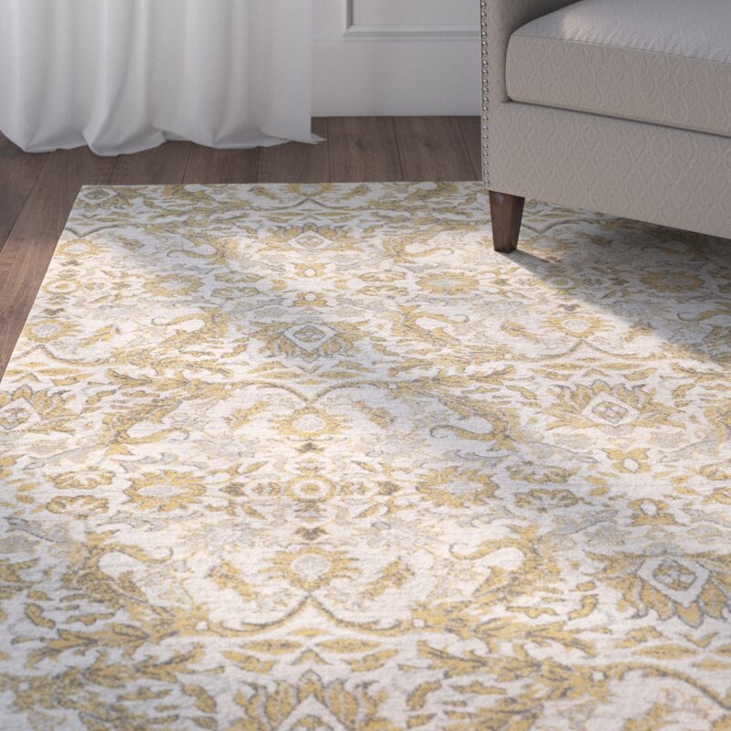 Charlton Home Sagebrush Ivory Gold Area Rug Amp Reviews