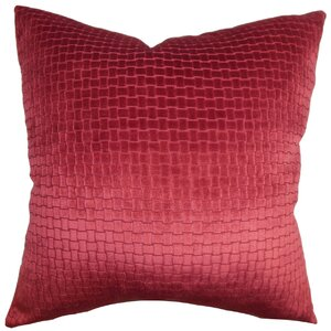 Brielle Solid Velvet Throw Pillow