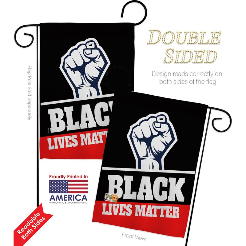 Ornament Collection Black Lives Matter 2 Sided Polyester 18 5 X 13 Flag Set Wayfair
