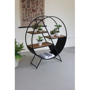 Orson Metal and Wood Round Console Table by Gracie Oaks
