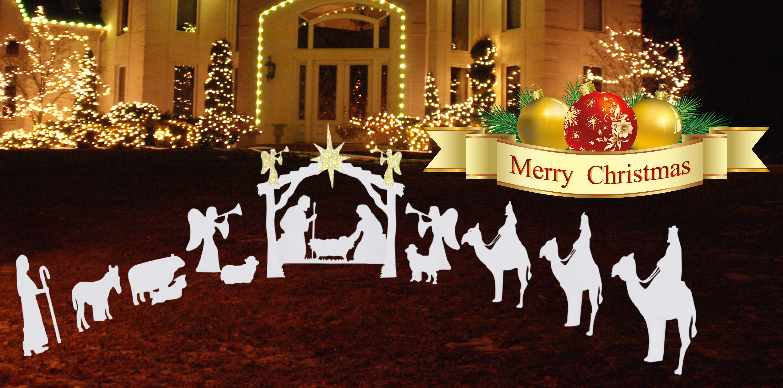 Nativity Outdoor Christmas Decorations.Outdoor Nativity Figurine Set