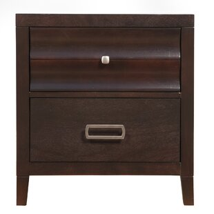 Arnot 2 Drawer Nightstand by Dar by Home Co