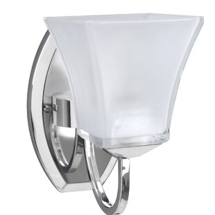 Hower Metal Bathroom 1-Light Bath Sconce by Charlton Home