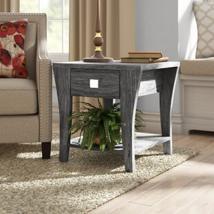 Online Reviews Mcnaughton End Table with Storage by Wrought Studio