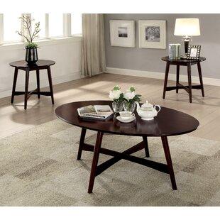 Red Barrel Studio Brashears Mid-Century Modern 3 Piece Coffee Table Set