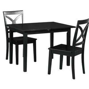 Spiller 3 Piece Extendable Solid Wood Dining Set by Winston Porter