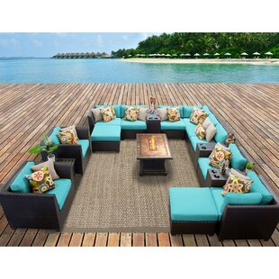 Medley 17 Piece Sectional Seating Group with Cushions