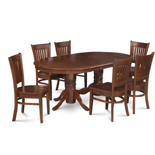 Schacht Traditional 7 Piece Extendable Solid Wood Dining Set Winston Porter