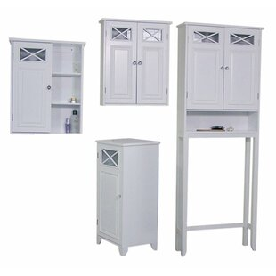 Darby Home Co Coddington 4 Piece Bathroom Storage Set