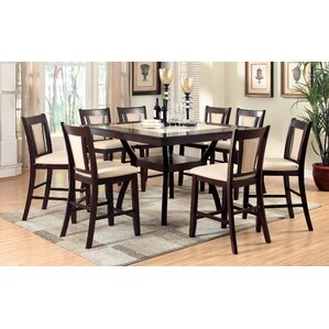 Wilburton 5 Piece Counter Height Pub Table Set by Darby Home Co