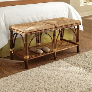 Coastal Chic Wood Storage Bench by Kenian