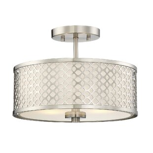 Willa Arlo Interiors Coolidge 2-Light Semi Flush Mount