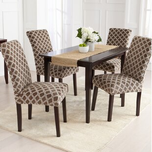 Velvet Plush Room Dining Chair Slipcover Set Of 4