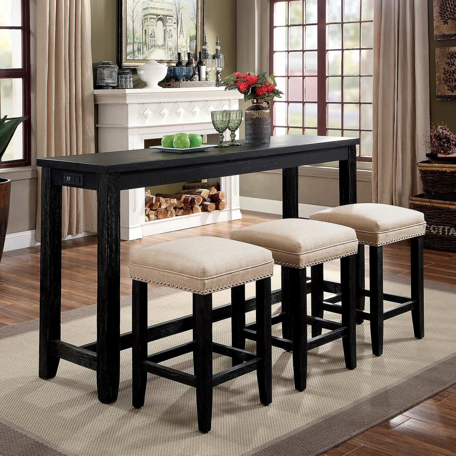 Darby Home Co Awad 4 Piece Counter Height Dining Set Wayfair