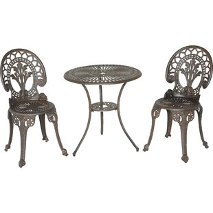 Meadow Decor Royal Crown 3 Piece Bistro Set