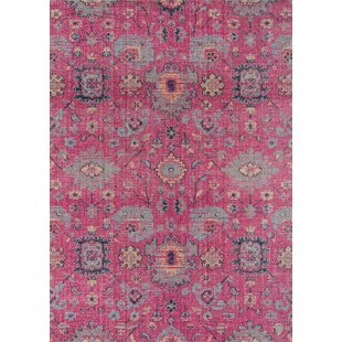 Thadine Pink Area Rug byBungalow Rose