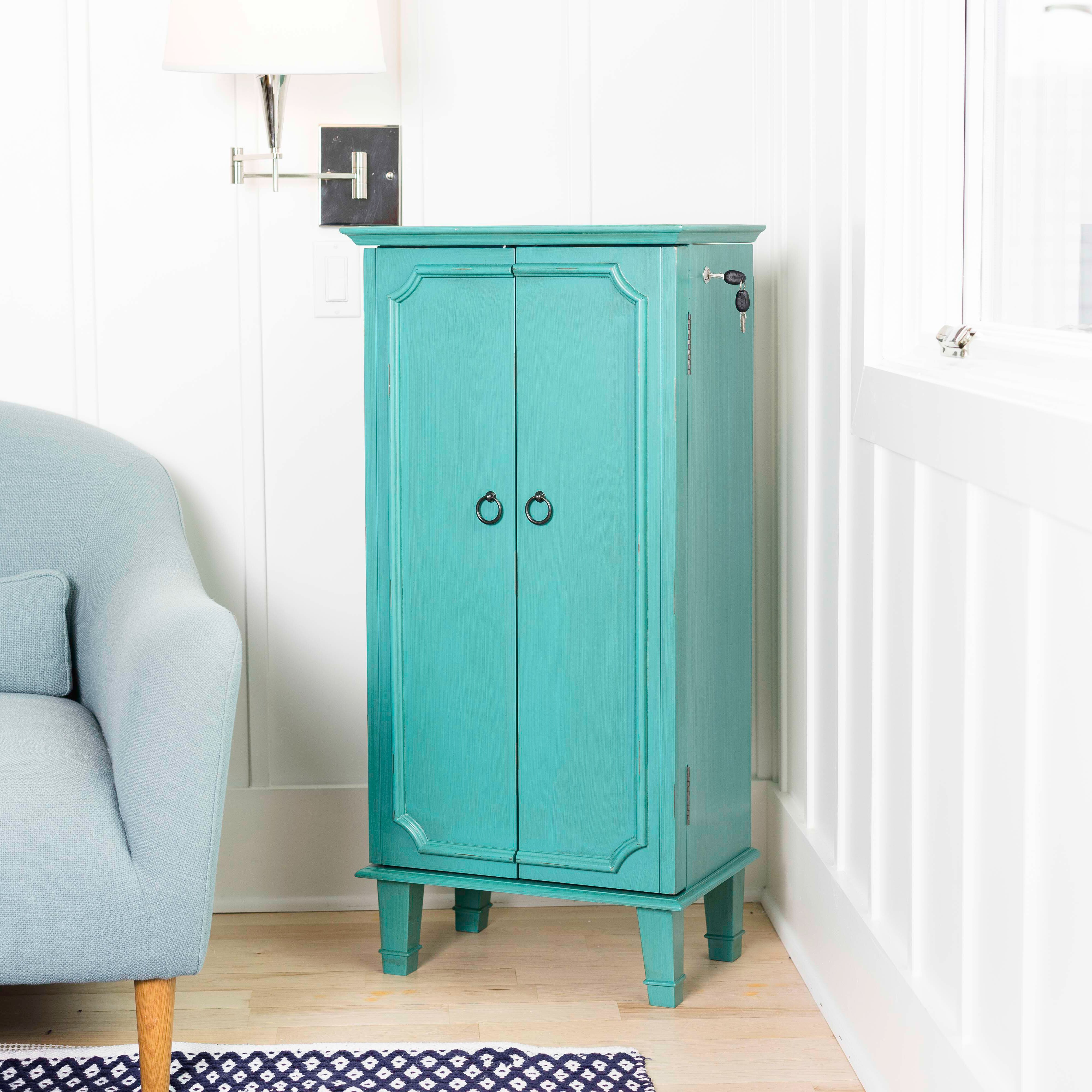 Beachcrest Home Enloe Free Standing Jewelry Armoire With Mirror Reviews Wayfair