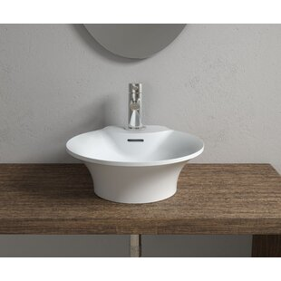 Purchase Stone Circular Vessel Bathroom Sink with Overflow By InFurniture