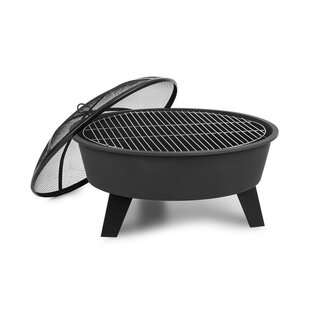 Nolana Steel Charcoal/Wood Burning Fire Pit By Blumfeldt