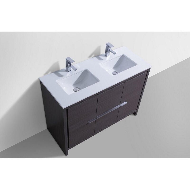 Mercury Row Bosley 48 Double Sink Modern Bathroom Vanity Set