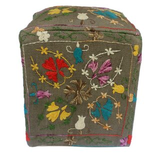 Bungalow Rose Lavina Kilim Cube Ottoman