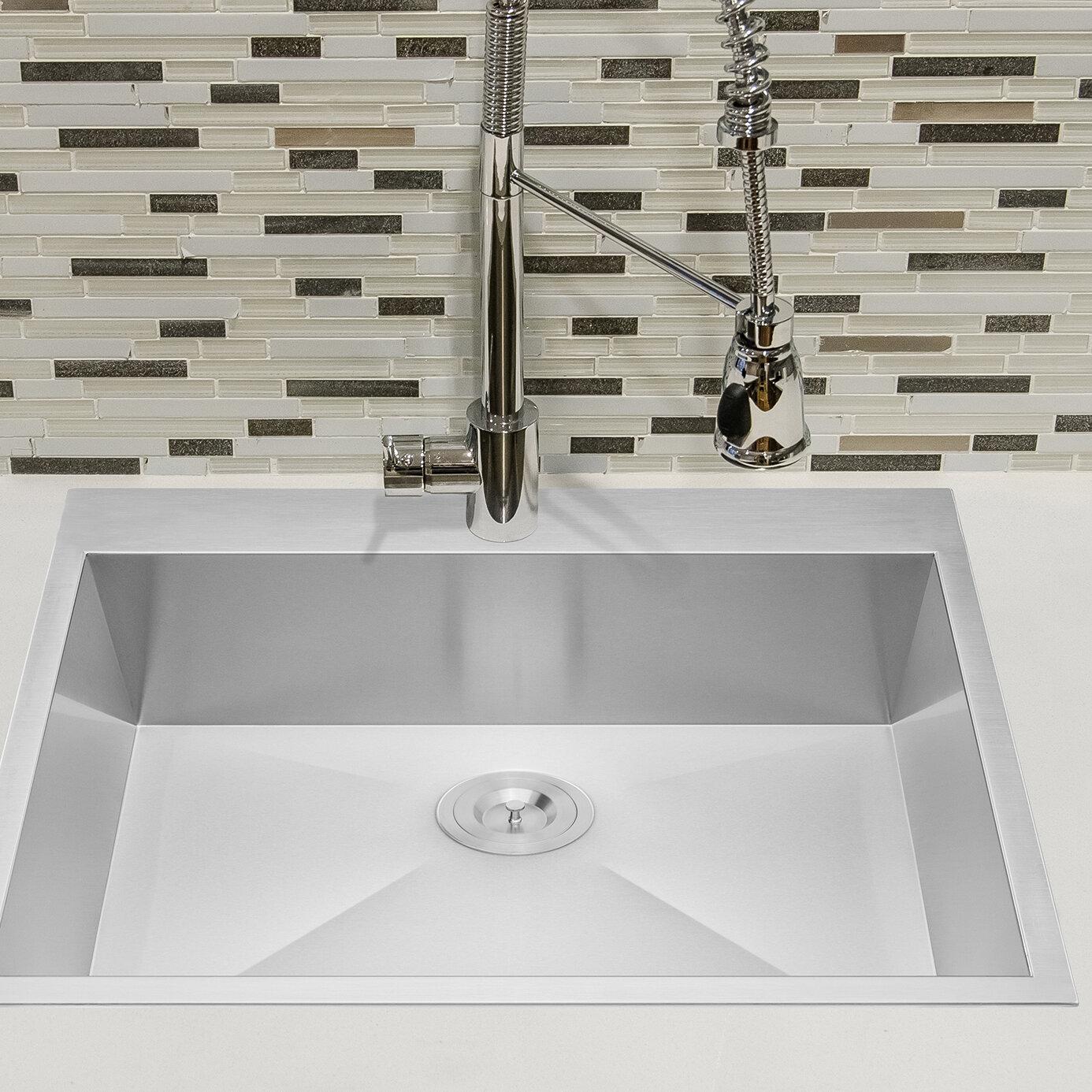 Ks0081 25 x 22 drop in kitchen sink